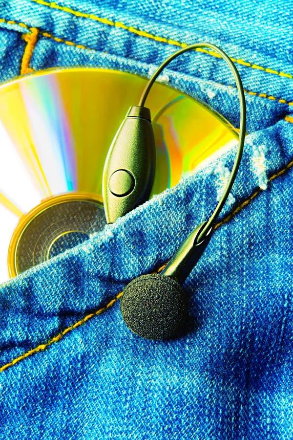 μουσική η τσέπη μου στοκ φωτογραφίες