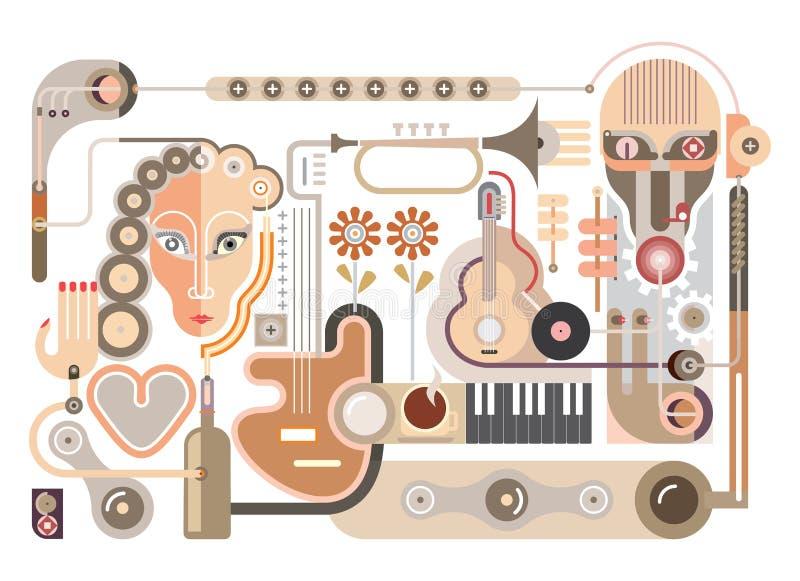 Μουσική - διανυσματική απεικόνιση ελεύθερη απεικόνιση δικαιώματος