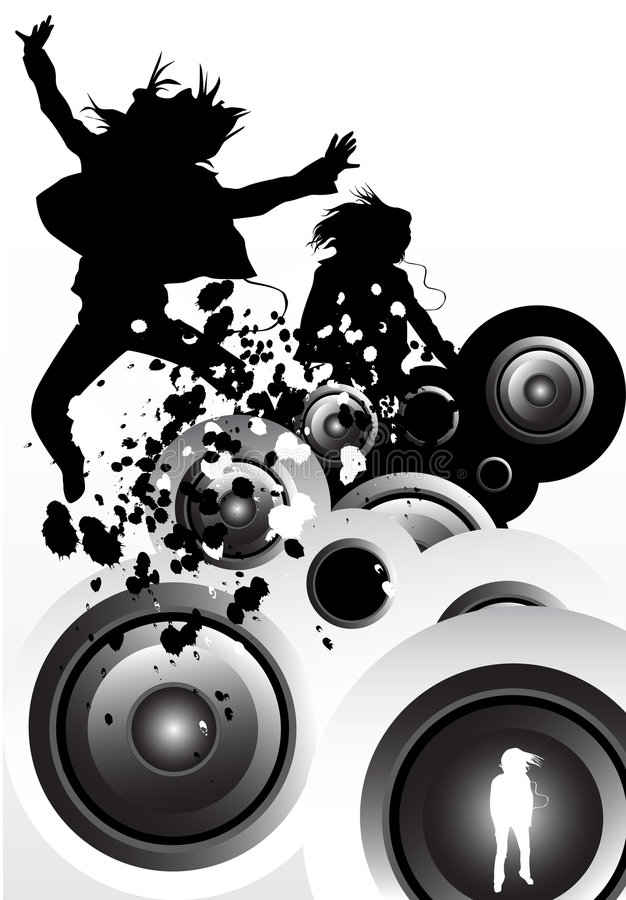 μουσική κινήσεων διανυσματική απεικόνιση