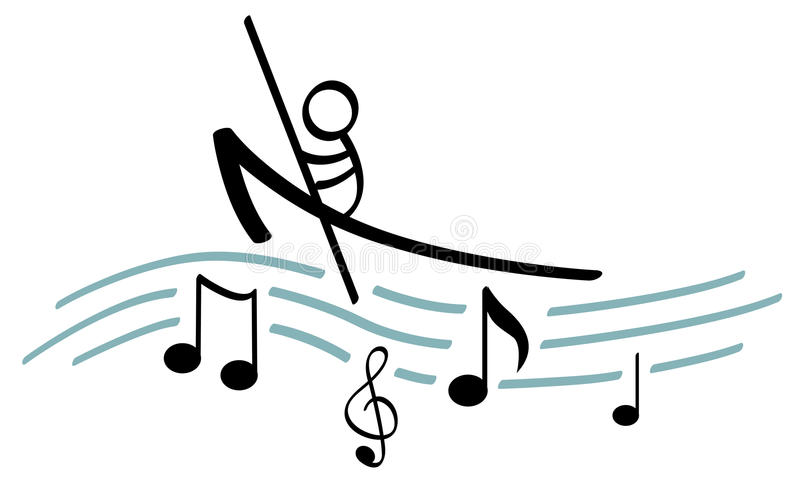 μουσική κωπηλασίας διανυσματική απεικόνιση