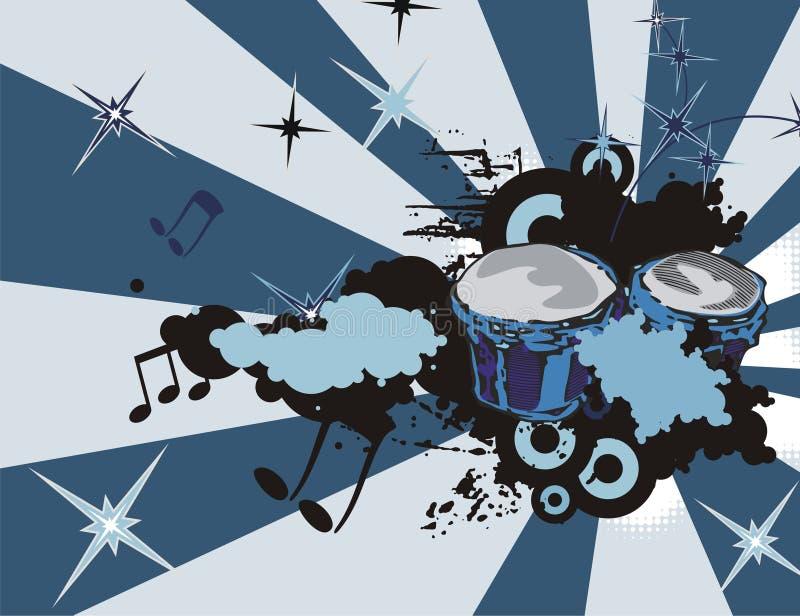 μουσική οργάνων ανασκόπη&sigma απεικόνιση αποθεμάτων