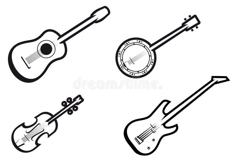 μουσική οργάνων απεικόνιση αποθεμάτων