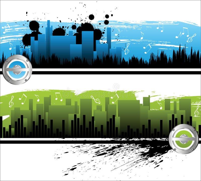 μουσική πόλεων απεικόνιση αποθεμάτων