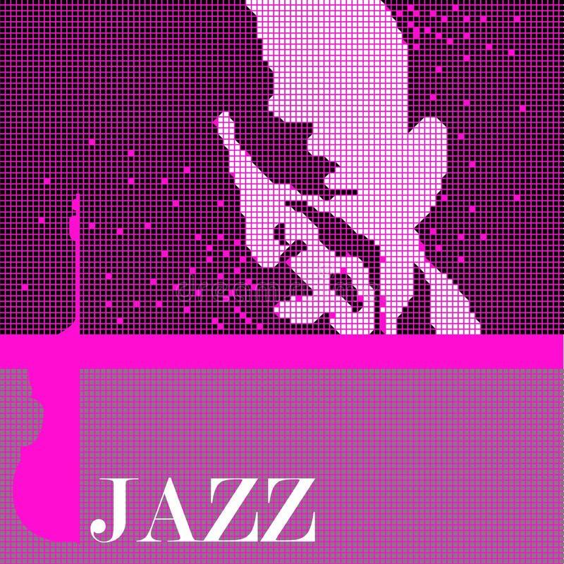 μουσική τζαζ προσώπου διανυσματική απεικόνιση
