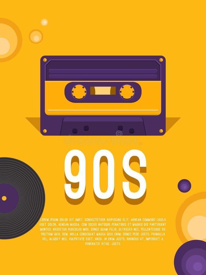 Μουσική της δεκαετίας του '90 απεικόνιση αποθεμάτων