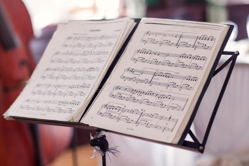 Μουσική φύλλων στοκ φωτογραφίες