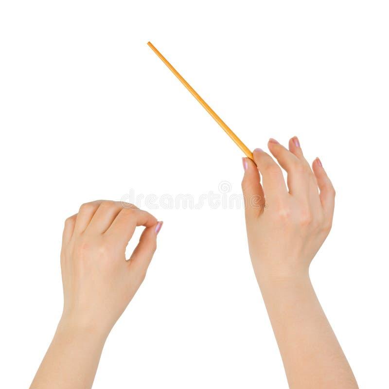 μουσική χεριών αγωγών στοκ φωτογραφία