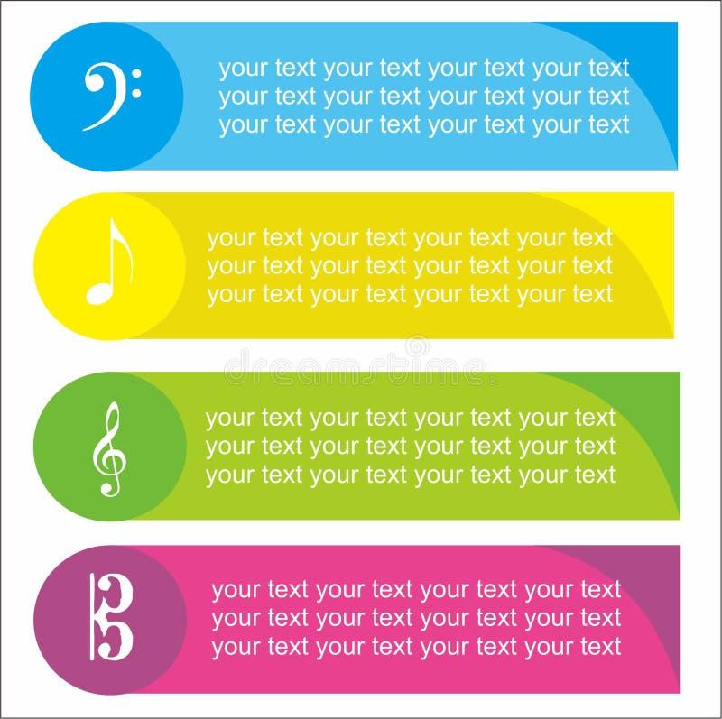 Μουσική infographic στοκ φωτογραφία
