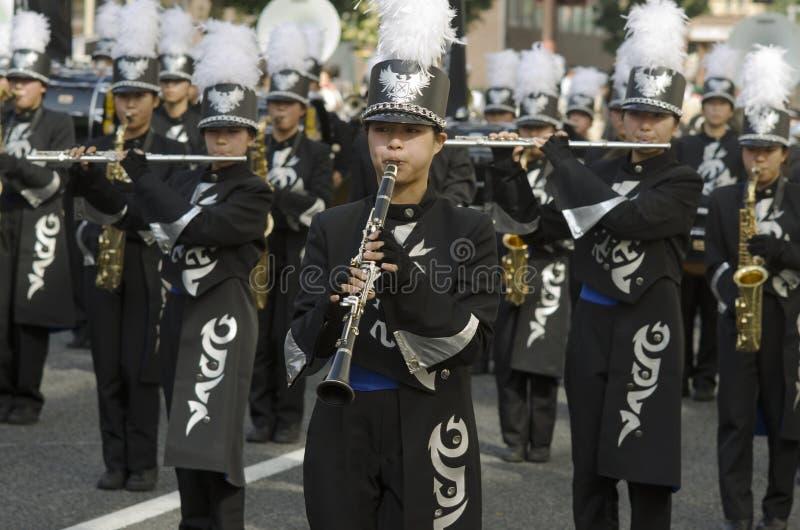Μουσικοί στο φεστιβάλ του Νάγκουα, Ιαπωνία στοκ εικόνες με δικαίωμα ελεύθερης χρήσης