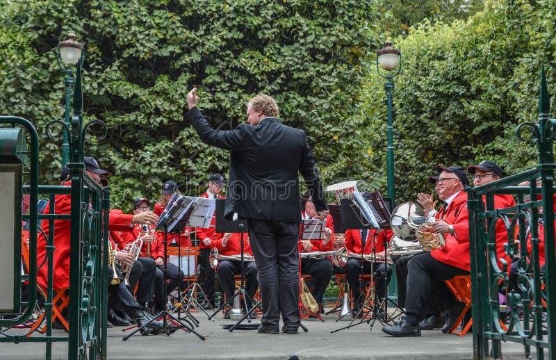 Μουσικοί της συμφωνικής ορχήστρας του Σίδνεϊ στοκ εικόνες