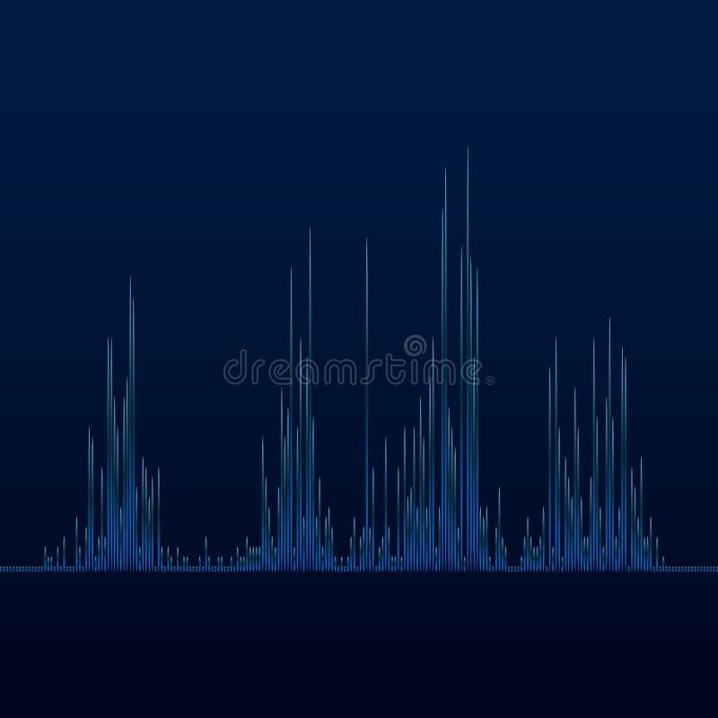 Μουσικός εξισωτής Υγιές κύμα Ραδιο συχνότητα επίσης corel σύρετε το διάνυσμα απεικόνισης απεικόνιση αποθεμάτων