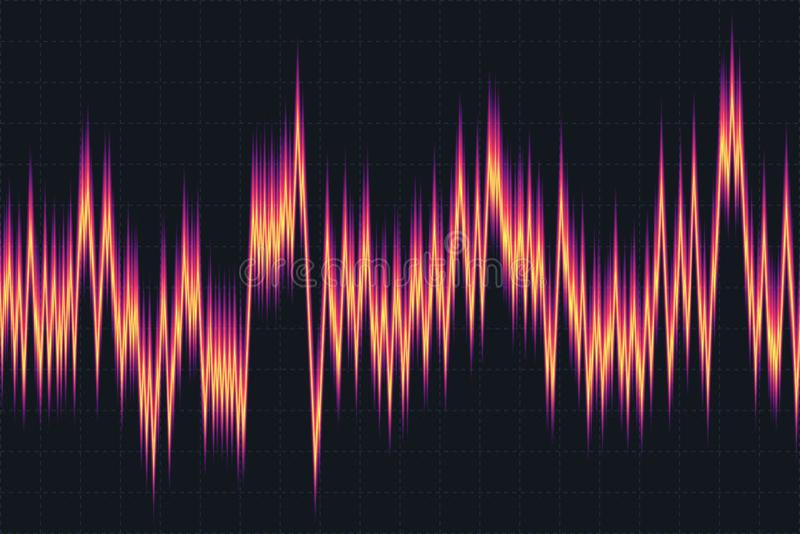 Μουσικός εξισωτής Υγιές κύμα ραδιόφωνο επίσης corel σύρετε το διάνυσμα απεικόνισης απεικόνιση αποθεμάτων