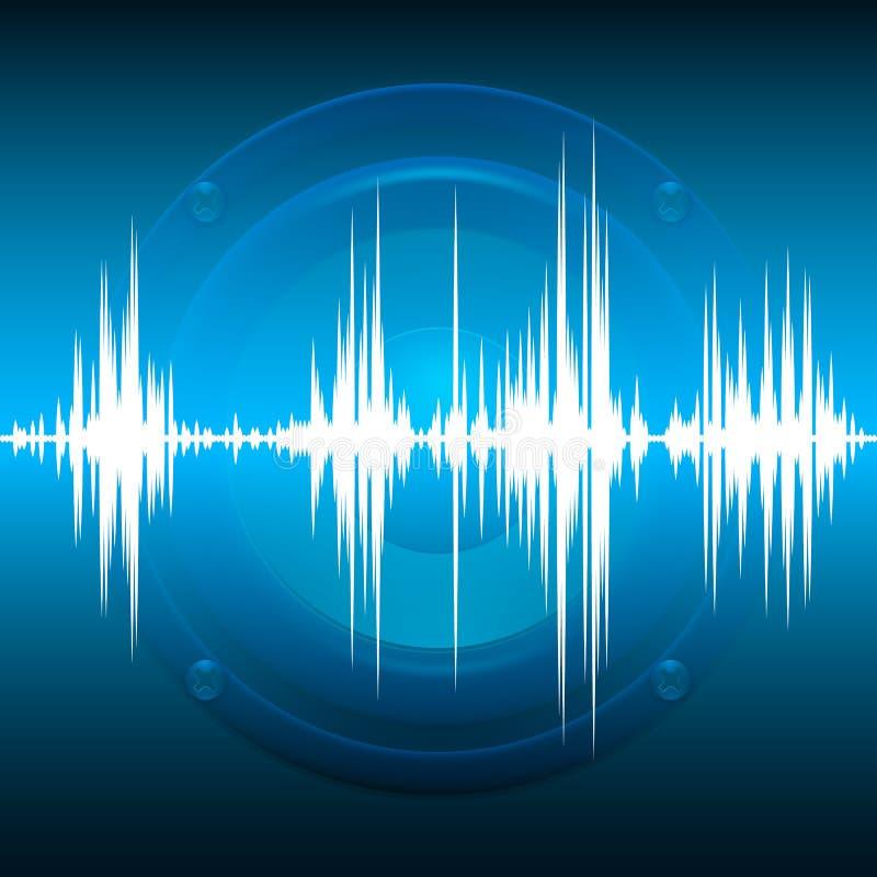 Μουσικός εξισωτής Υπόβαθρο μουσικής, ακουστικός ομιλητής Υγιές κύμα Ραδιο συχνότητα επίσης corel σύρετε το διάνυσμα απεικόνισης απεικόνιση αποθεμάτων