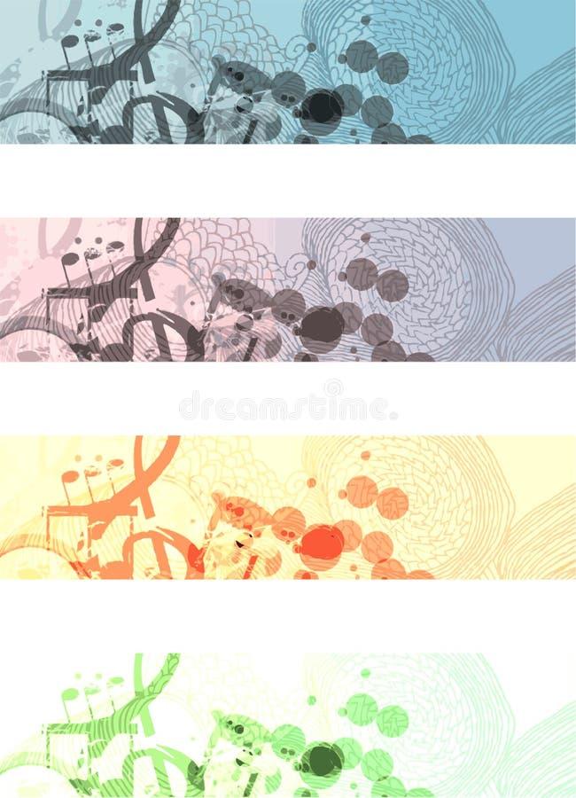 μουσικός Ιστός εμβλημάτω& διανυσματική απεικόνιση