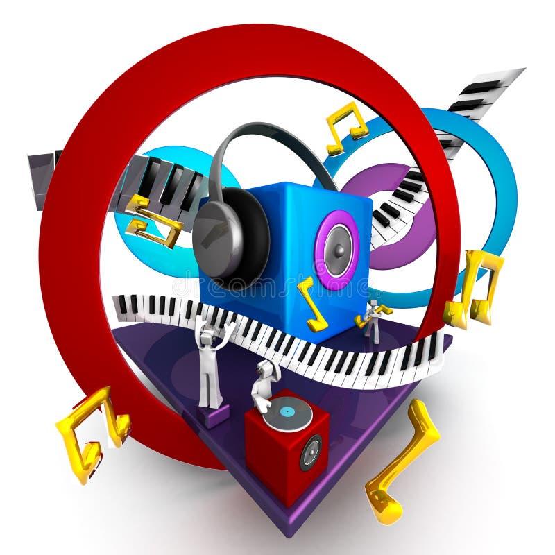 μουσικός κόσμος έννοιας απεικόνιση αποθεμάτων