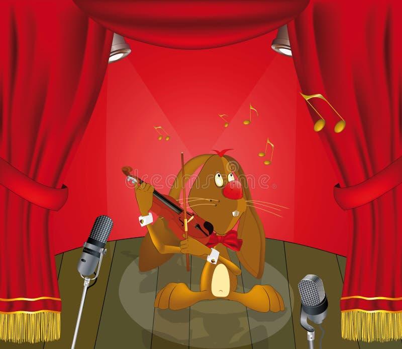 μουσικός λαγών ελεύθερη απεικόνιση δικαιώματος