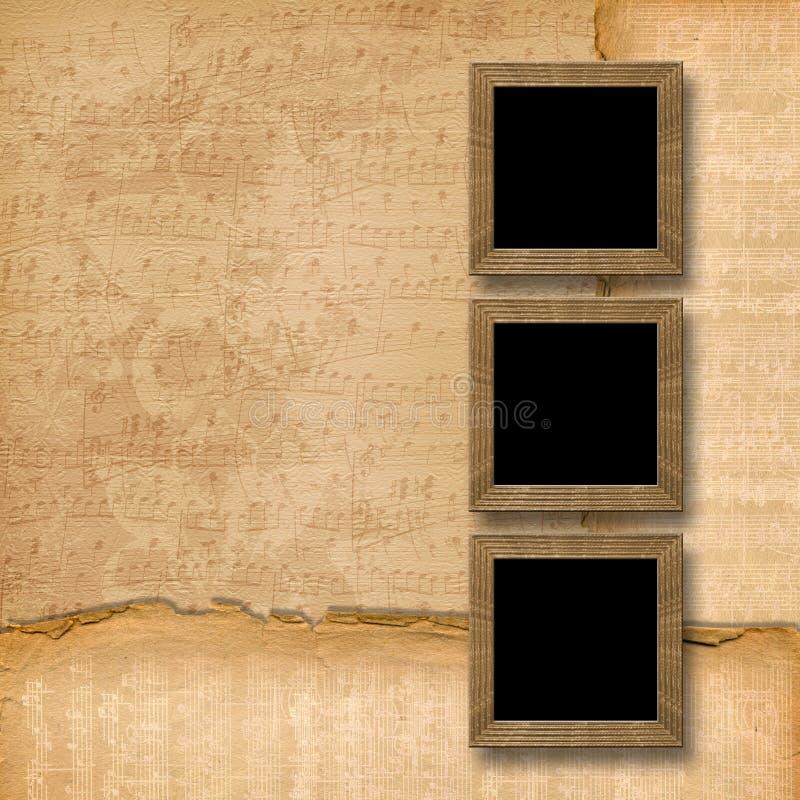 μουσικός ξύλινος πλαισί&ome ελεύθερη απεικόνιση δικαιώματος