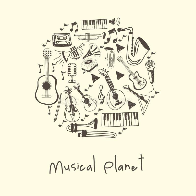 Μουσικός πλανήτης ελεύθερη απεικόνιση δικαιώματος