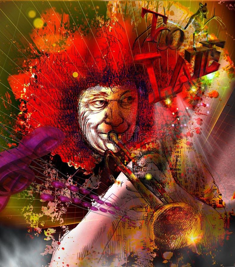 Μουσικός: Φορέας σαλπίγγων (μικτή τέχνη mdia) ελεύθερη απεικόνιση δικαιώματος