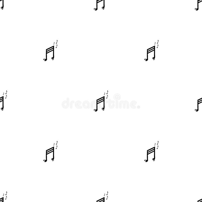 Μουσικό άνευ ραφής σχέδιο με τις μουσικές νότες ελεύθερη απεικόνιση δικαιώματος