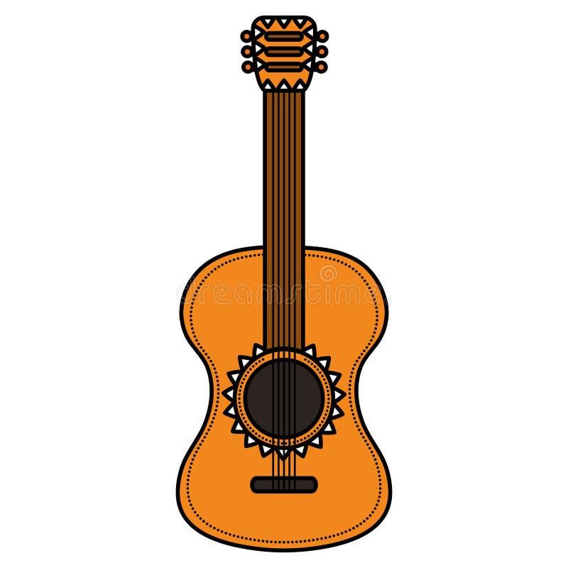 Μουσικό εικονίδιο οργάνων κιθάρων διανυσματική απεικόνιση