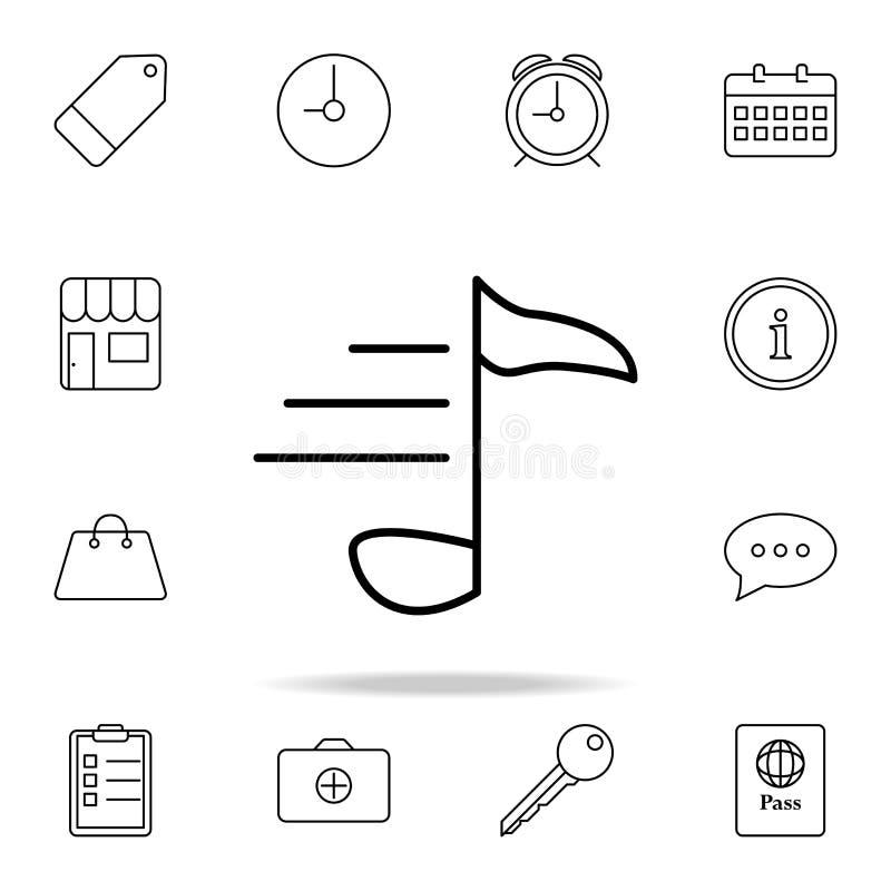 Μουσικό εικονίδιο σημειώσεων Στοιχείο του απλού εικονιδίου για τους ιστοχώρους, σχέδιο Ιστού, κινητό app, γραφική παράσταση πληρο διανυσματική απεικόνιση