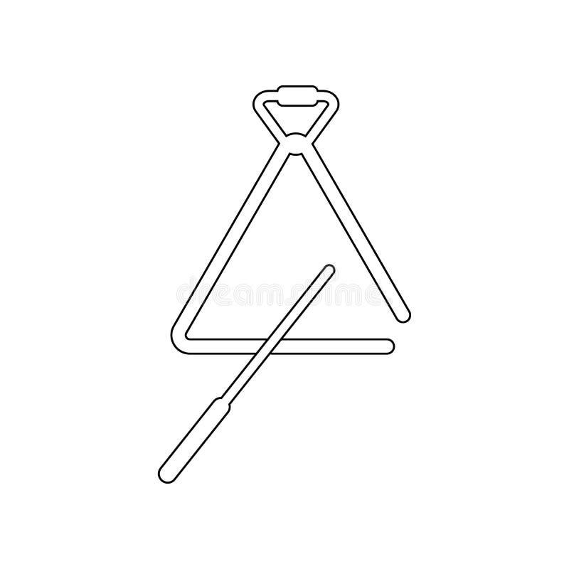Μουσικό εικονίδιο τριγώνων Στοιχείο του οργάνου μουσικής για το κινητό εικονίδιο έννοιας και Ιστού apps r διανυσματική απεικόνιση