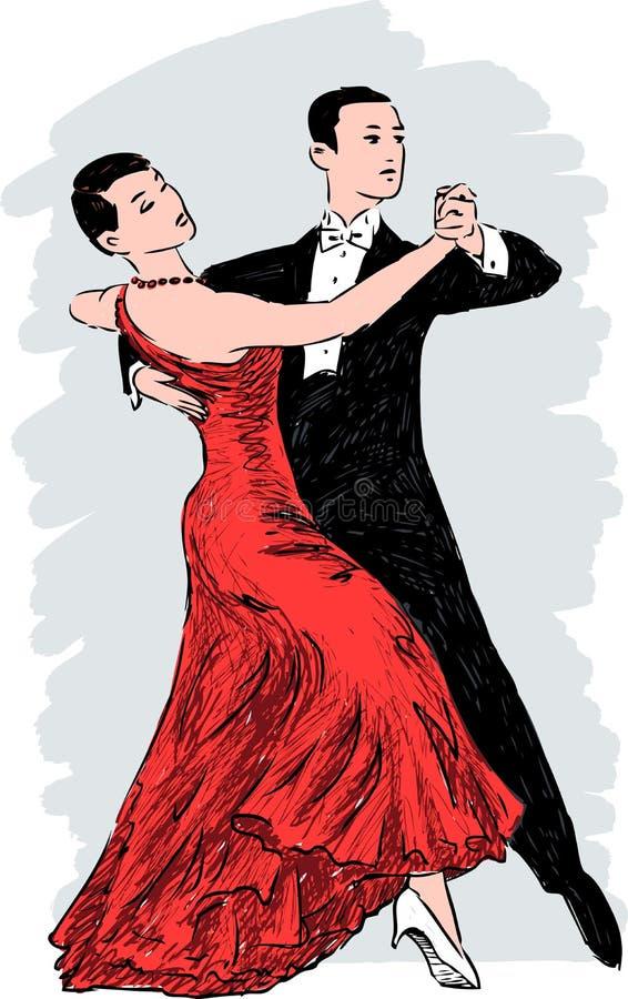 μουσικό διάνυσμα απεικόνισης χορού ζευγών απεικόνιση αποθεμάτων