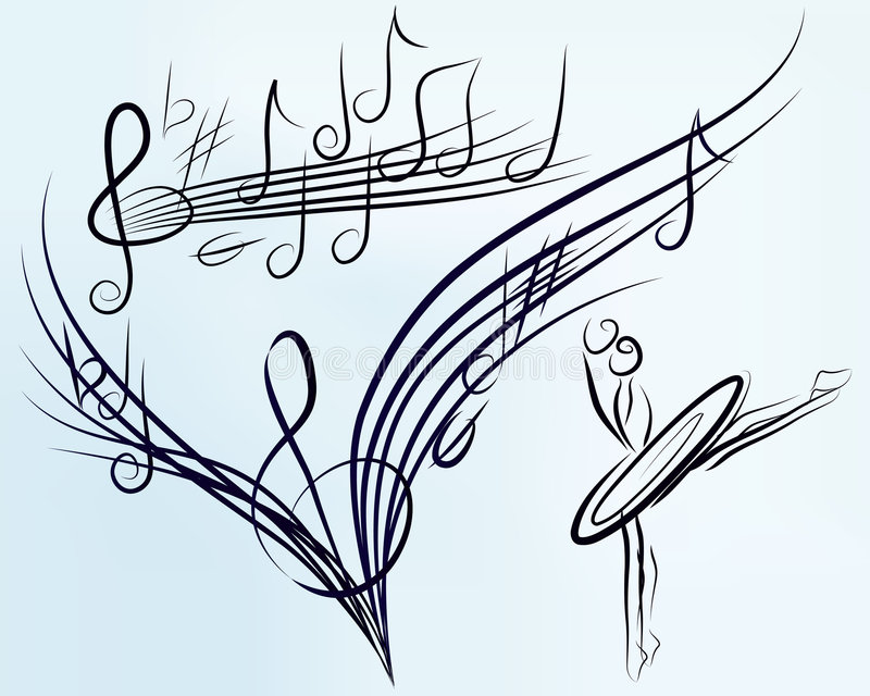 μουσικό καθορισμένο διάνυσμα ελεύθερη απεικόνιση δικαιώματος