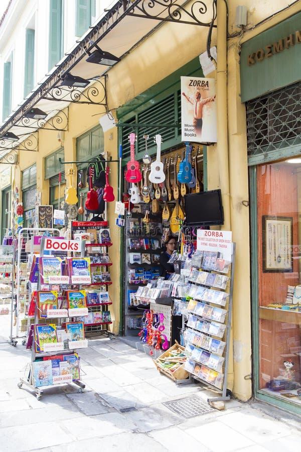 Μουσικό κατάστημα από την Αθήνα στοκ φωτογραφίες