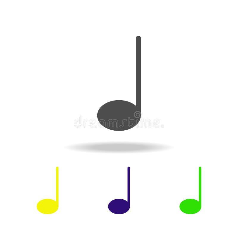 μουσικό πολύχρωμο εικονίδιο σημειώσεων Στοιχείο των εικονιδίων Ιστού Εικονίδιο σημαδιών και συμβόλων για τους ιστοχώρους, σχέδιο  διανυσματική απεικόνιση