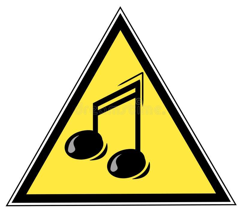 μουσικό σημάδι σημειώσεων διανυσματική απεικόνιση