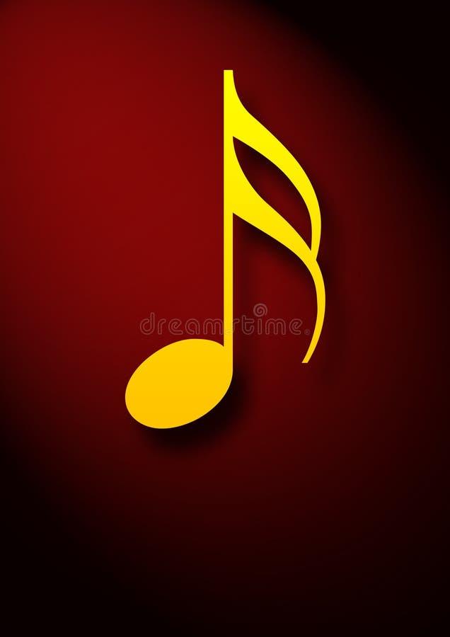 Μουσικό σύμβολο σημειώσεων Δωρεάν Στοκ Εικόνα