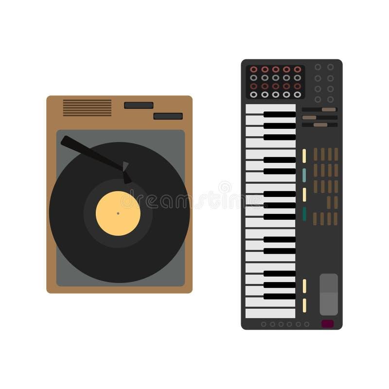 Μουσικό σύνολο οργάνων κινούμενων σχεδίων Gramophone, συνθέτης απεικόνιση αποθεμάτων