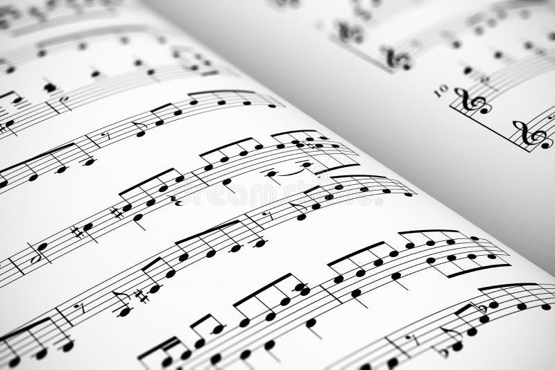Μουσική φύλλων διανυσματική απεικόνιση
