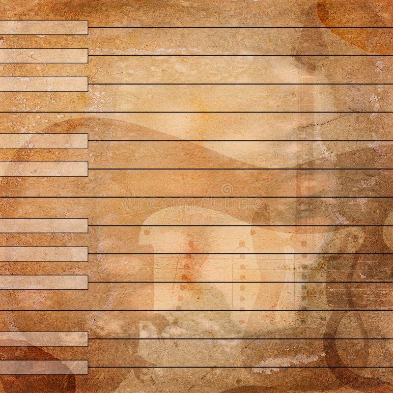 Μουσικό υπόβαθρο Grunge στοκ εικόνες