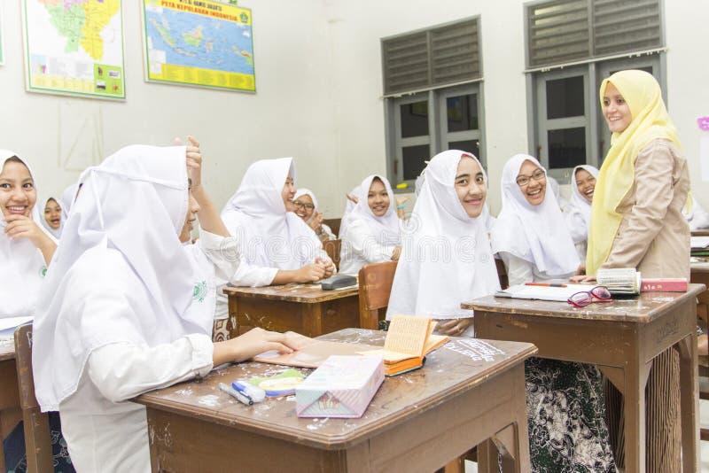 Μουσουλμανικοί σπουδαστές στοκ εικόνα