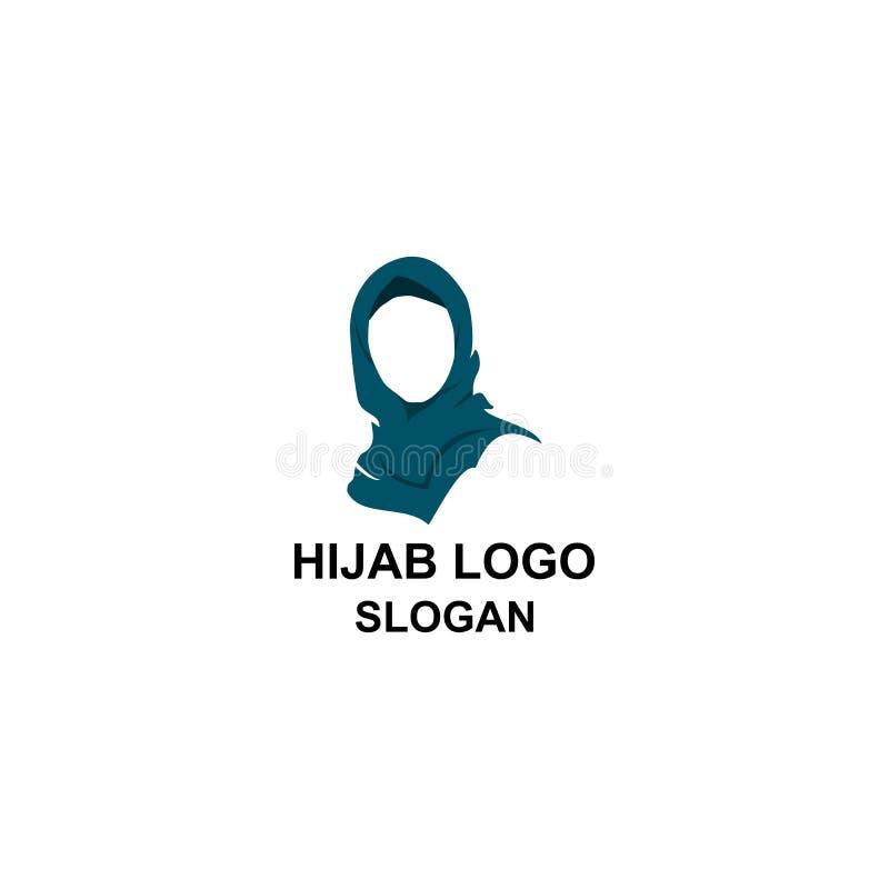 Μουσουλμανικό σχεδιάγραμμα γυναικών με το λογότυπο hijab διανυσματική απεικόνιση