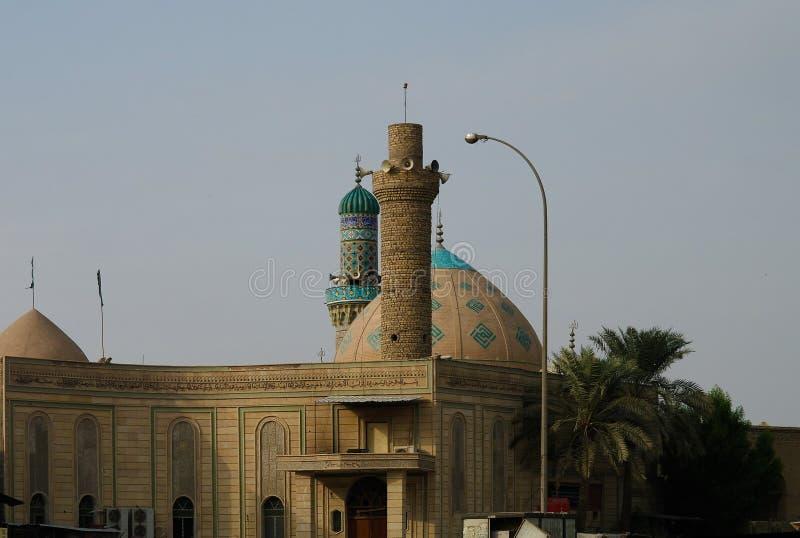 Μουσουλμανικό τέμενος και η ιερή λάρνακα του ιμάμη Reza, Βασόρα, Ιράκ στοκ εικόνα