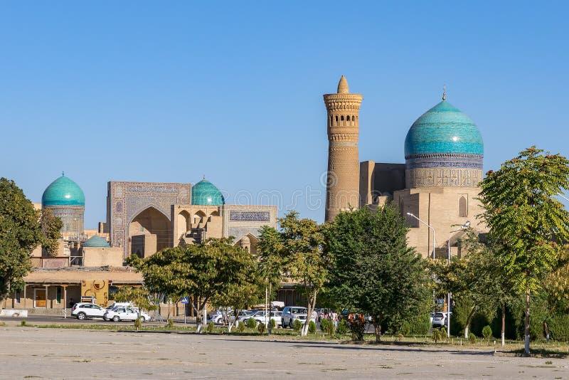 Μουσουλμανικό τέμενος και μιναρές Kalyan, που βρίσκονται στην πόλη της Μπουχάρα, Ουζμπεκιστάν στοκ εικόνες