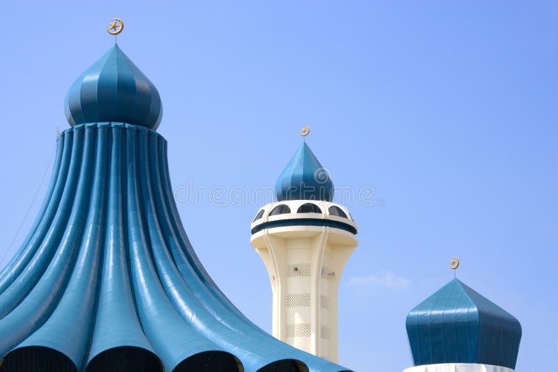 μουσουλμανικό τέμενος μιναρών θόλων στοκ εικόνα με δικαίωμα ελεύθερης χρήσης