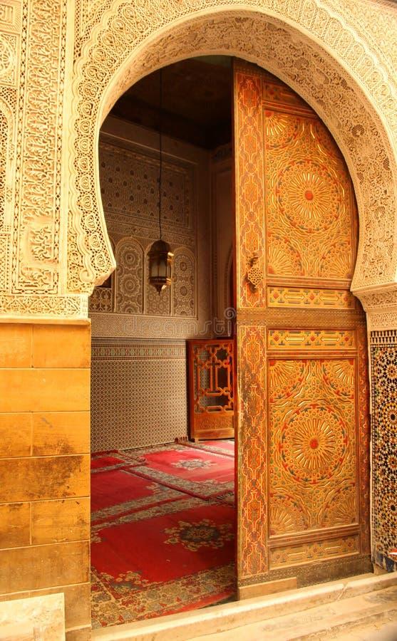 μουσουλμανικό τέμενος πορτών στοκ εικόνες με δικαίωμα ελεύθερης χρήσης