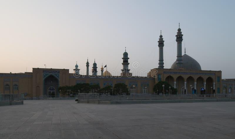 Μουσουλμανικό τέμενος σε Qom Ανατολή στο Ιράν στοκ εικόνα με δικαίωμα ελεύθερης χρήσης