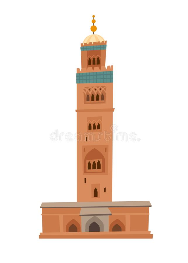 Μουσουλμανικό τέμενος στη διανυσματική απεικόνιση dooddle του Μαρακές απεικόνιση αποθεμάτων