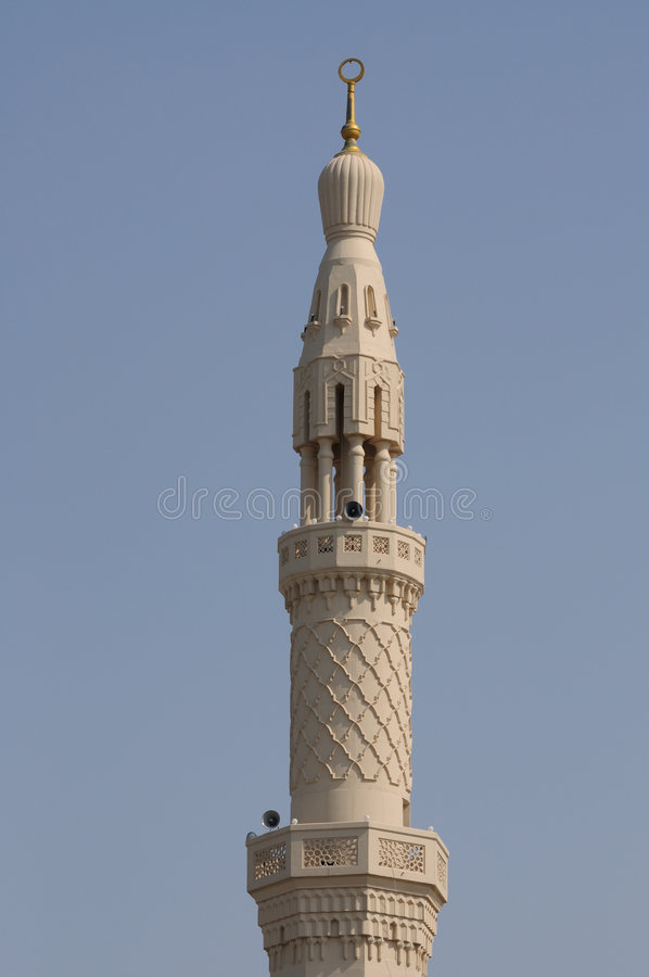 μουσουλμανικό τέμενος του Ντουμπάι jumeirah στοκ εικόνα με δικαίωμα ελεύθερης χρήσης