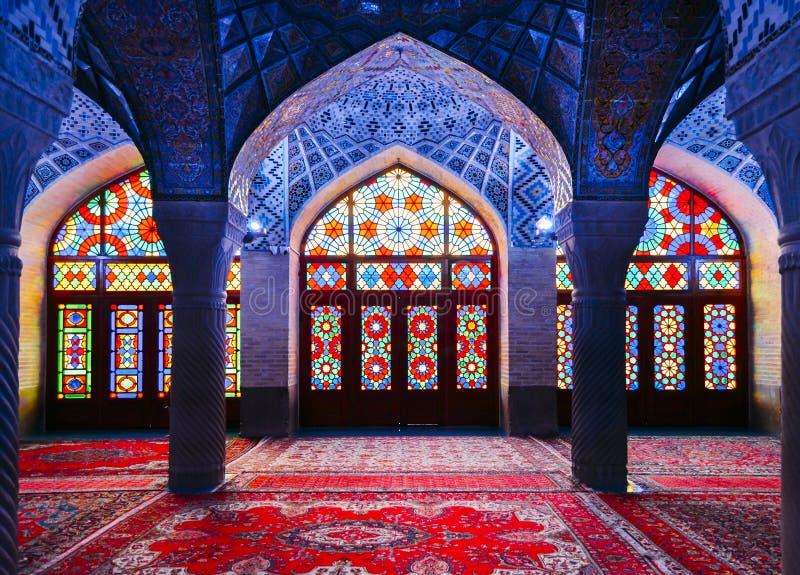Μουσουλμανικό τέμενος του Nasir Al-Mulk στη Shiraz, Ιράν, επίσης γνωστό ως ρόδινο μουσουλμανικό τέμενος στοκ φωτογραφία με δικαίωμα ελεύθερης χρήσης