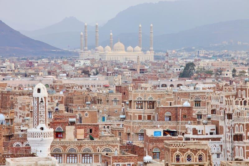 Μουσουλμανικό τέμενος Al Saleh σε Sanaa, Υεμένη στοκ εικόνες