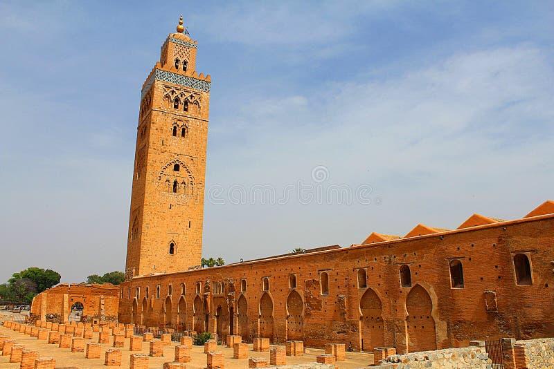 Μουσουλμανικό τέμενος Cutubia από το Μαρακές Μαρόκο στοκ φωτογραφία με δικαίωμα ελεύθερης χρήσης
