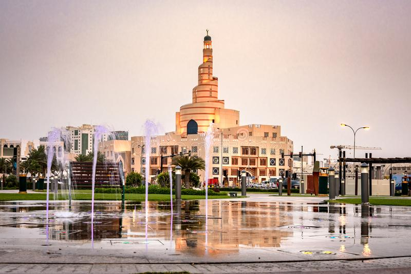 Μουσουλμανικό τέμενος Doha Κατάρ Al Fanar στοκ εικόνες με δικαίωμα ελεύθερης χρήσης