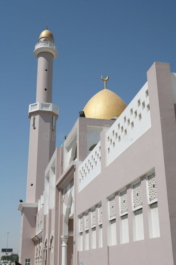 μουσουλμανικό τέμενος doha στοκ φωτογραφίες